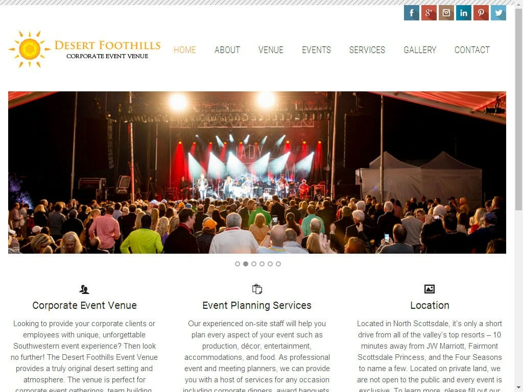 Desert Foothills Corporate Events