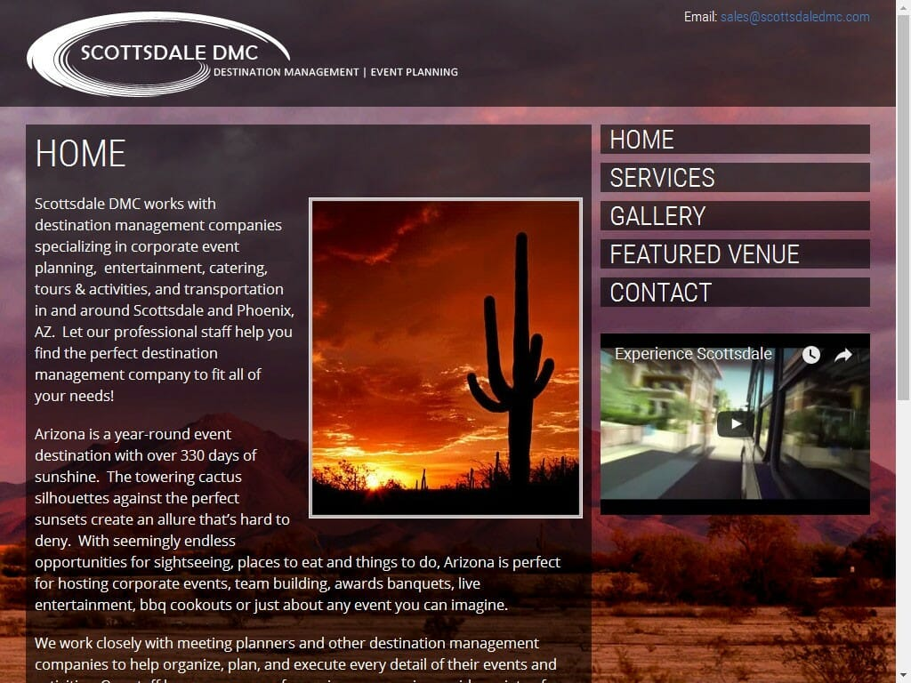 Scottsdale DMC website
